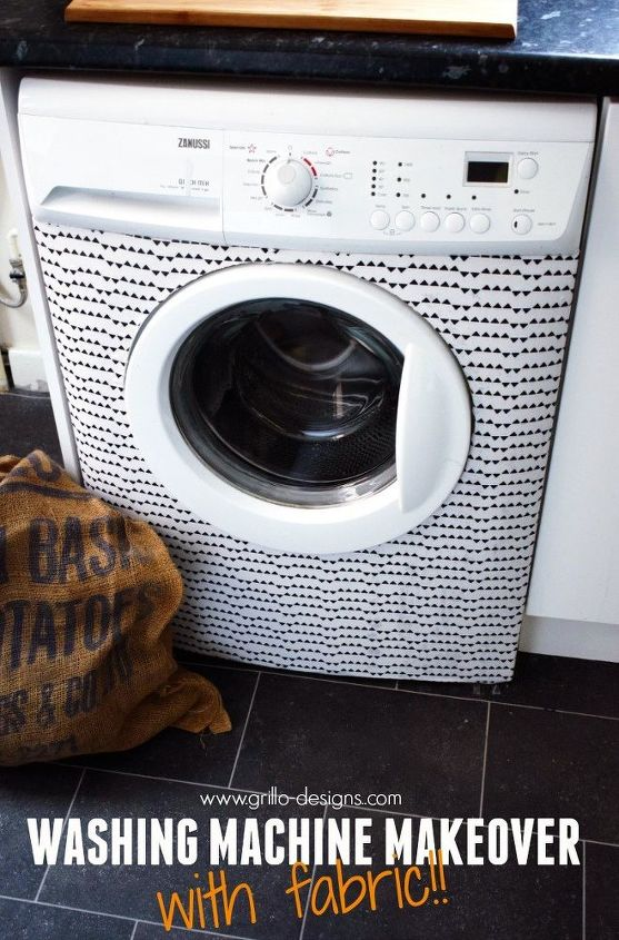 washing machine makeover with fabric, appliances, decoupage, how to, laundry rooms
