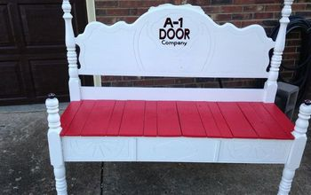 old head and footboard to bench, diy, outdoor furniture, painted furniture, repurposing upcycling
