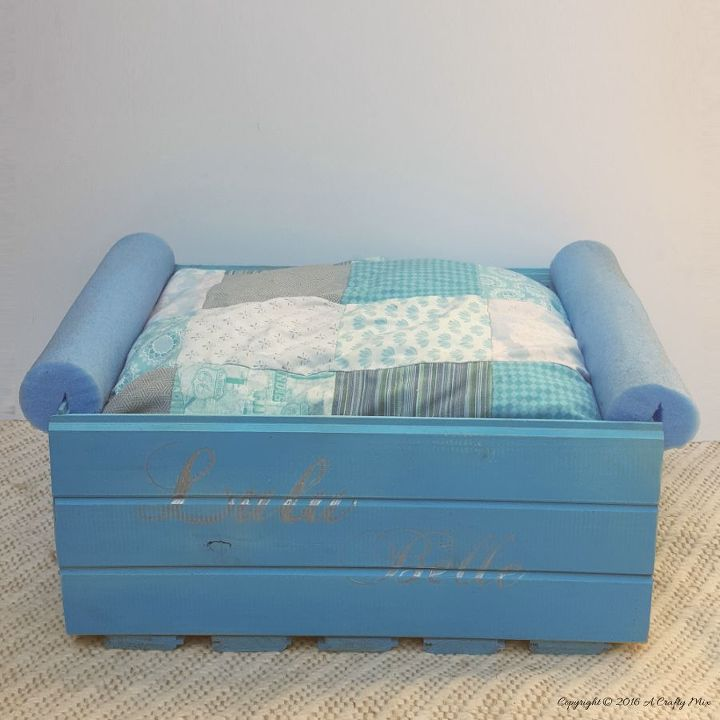 a pool noodle bed for a puppy princess how to make your own, diy, how to, pets, pets animals