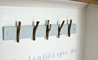 diy tree branch coat hooks, closet, crafts, repurposing upcycling, woodworking projects