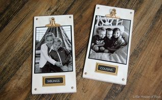 diy wood photo plaques, chalk paint, crafts, how to