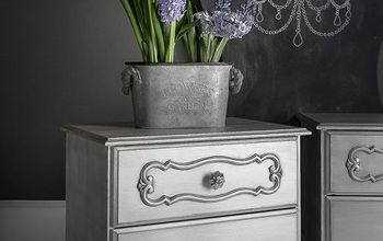 from blah to hollywood glam night tables, painted furniture