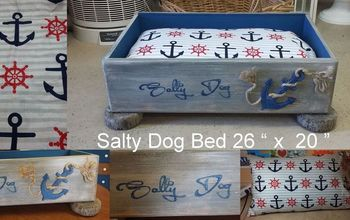 salty dog bed, painted furniture, pets, pets animals, repurposing upcycling, reupholster