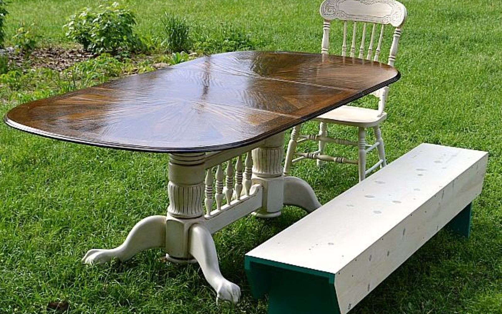 s 13 gorgeous ways to bring your worn kitchen table back to life, kitchen design, painted furniture, Sand it back to natural and stain it darker