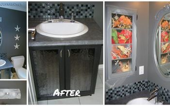 Powder Room Makeover - Champagne Taste on a Beer Budget