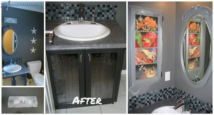 powder room makeover champagne taste on a beer budget, bathroom ideas, decoupage, doors, home improvement, painting, repurposing upcycling, shelving ideas