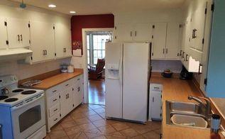 q too much white in outdated kitchen help, kitchen cabinets, kitchen design