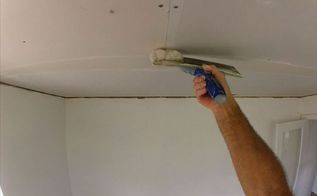 diy how to get a flat drywall butt joint with fiberglass mesh tape, diy, home improvement, home maintenance repairs, how to, painting, wall decor
