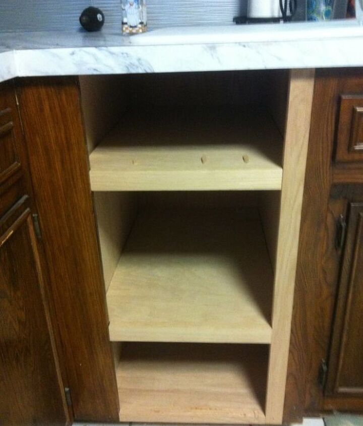 a pinterest inspired alternative to a dated trash compactor, diy, kitchen cabinets, kitchen design, repurposing upcycling