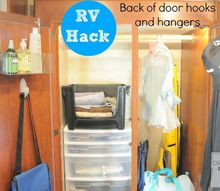 rv organizing and camping hacks, organizing, storage ideas