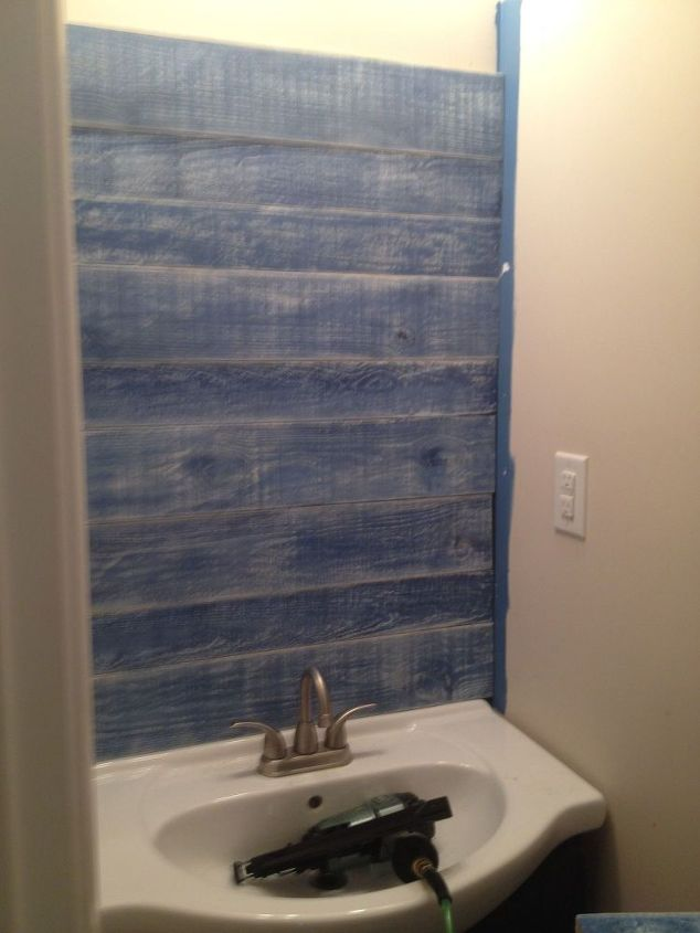 My First Solo Project Guest Bathroom Blah To Beachy