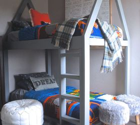 Build A House Bunk Bed, Bedroom Ideas, Diy, How To, Painted Furniture