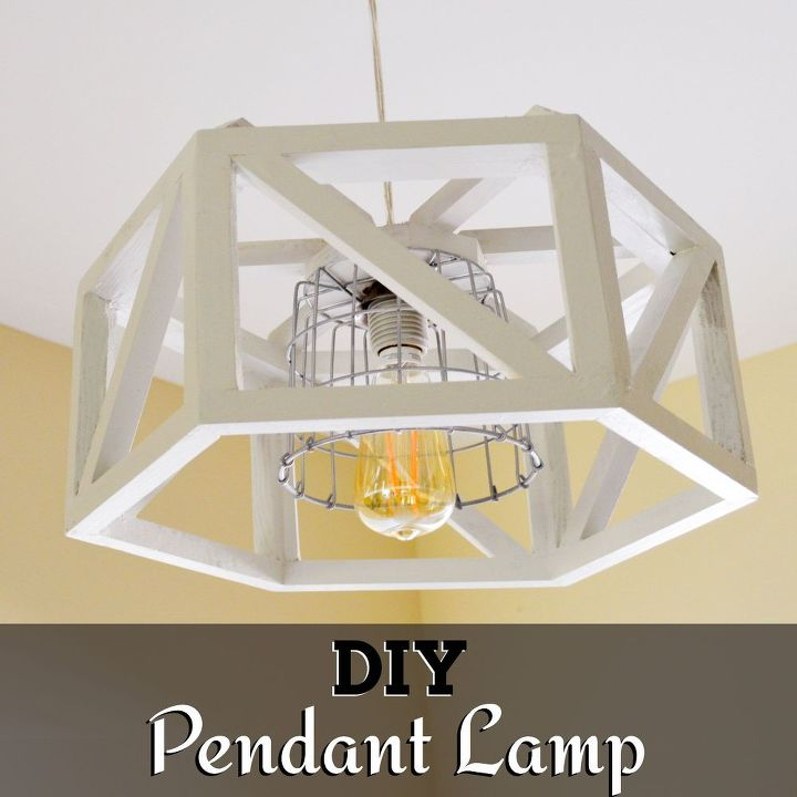 Diy hexagon pendant lamp hometalk diy hexagon pendant lamp diy how to lighting repurposing upcycling mozeypictures Image collections