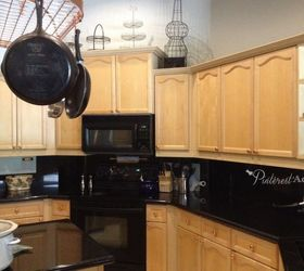 Updating A Tired Kitchen By Painting The Cabinets, Home Decor, Kitchen  Backsplash, ...