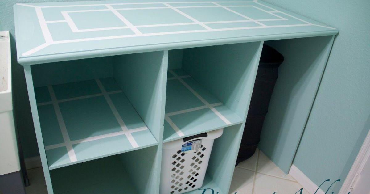 Diy Folding Table And Basket Storage For The Laundry Room