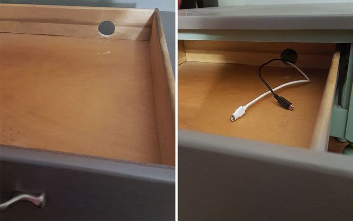 diy flip turn a 3 end table into a beautiful charging station, bedroom ideas, painted furniture