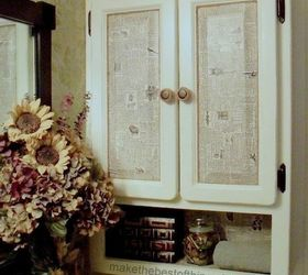 Thrift Store Dictionary And A 1 Cabinet, Decoupage, Kitchen Cabinets,  Painted Furniture,