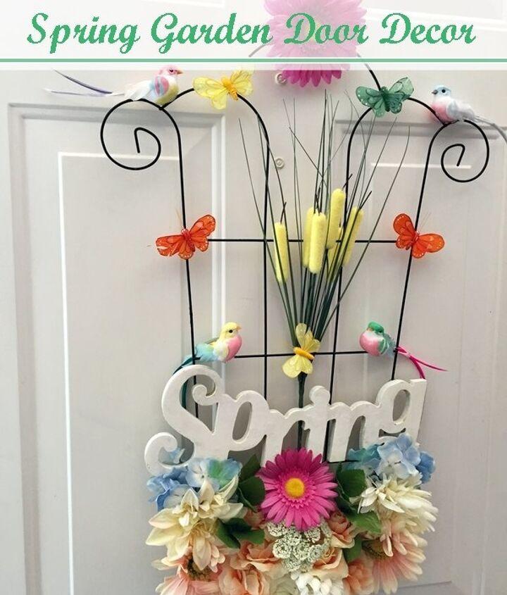 Spring Garden Door Decor Hometalk