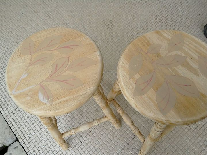 kitchen stools makeover, crafts, how to, painted furniture