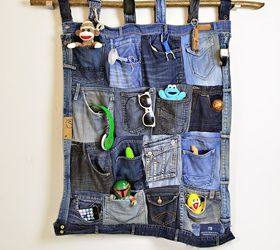s 19 gorgeous reasons to dig your old jeans out of the closet, crafts, repurposing upcycling, Craft a holder from a denim pocket collage