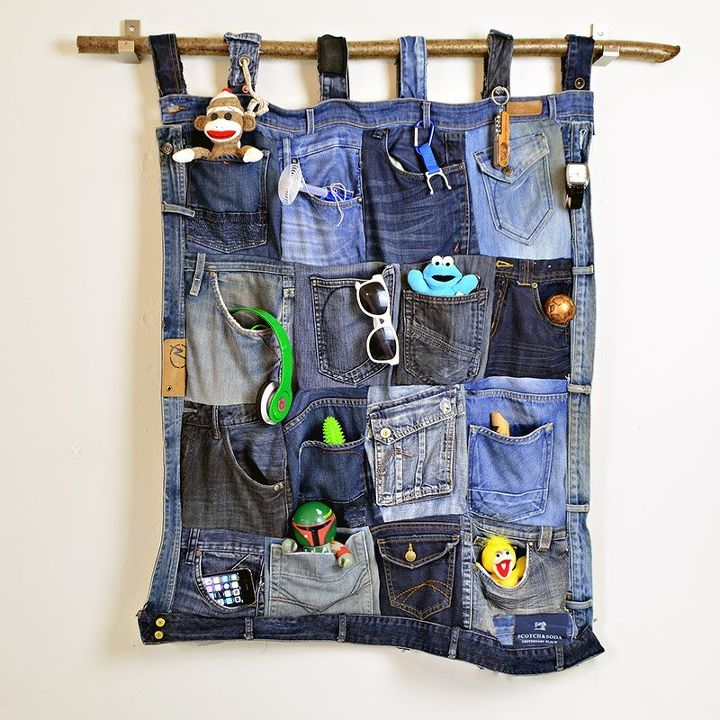 Cut The Pockets Off Your Old Jeans To Create These Brilliant