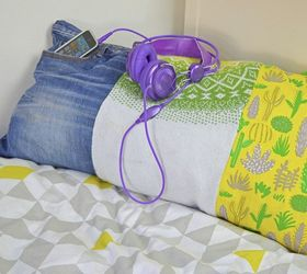 s 19 gorgeous reasons to dig your old jeans out of the closet, crafts, repurposing upcycling, Make a scrappy pillow from old clothing