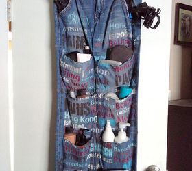 s 19 gorgeous reasons to dig your old jeans out of the closet, crafts, repurposing upcycling, Turn an old pair into a fun hanging organizer
