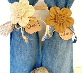 s 19 gorgeous reasons to dig your old jeans out of the closet, crafts, repurposing upcycling, Or use them to gift bottles of wine
