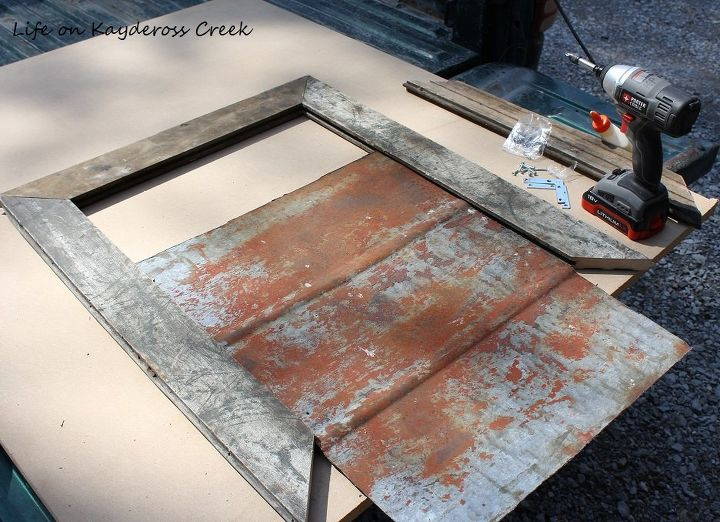 fixer upper inspired wall decor junkin at it s best, diy, repurposing upcycling, roofing, wall decor, woodworking projects
