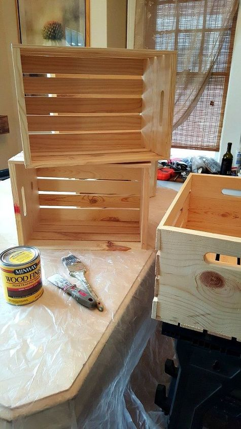Diy wooden crate shoe rack hometalk for Painted crate ideas