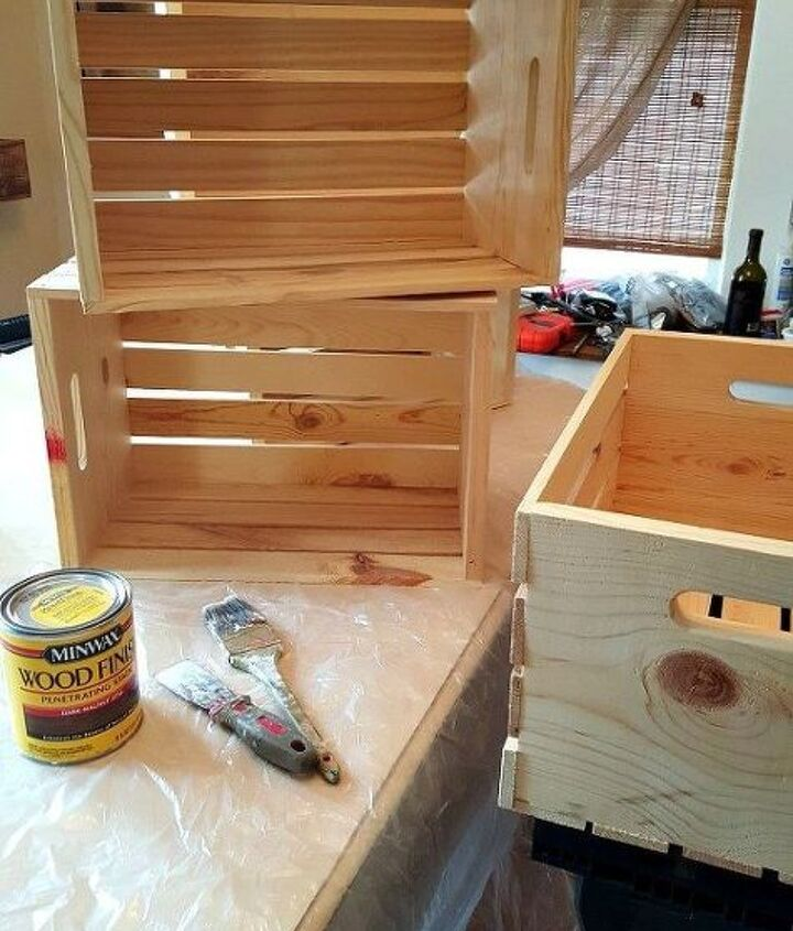 diy wooden crate shoe rack, diy, foyer, organizing, painted furniture, storage ideas, woodworking projects