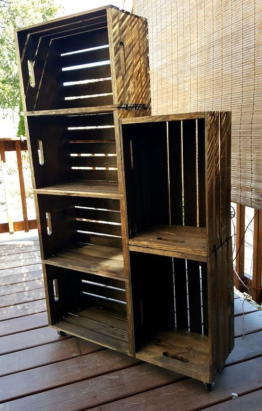 Diy Wooden Crate Shoe Rack Hometalk