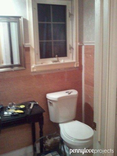 farmhouse powder room makeover for 200, bathroom ideas, small bathroom ideas
