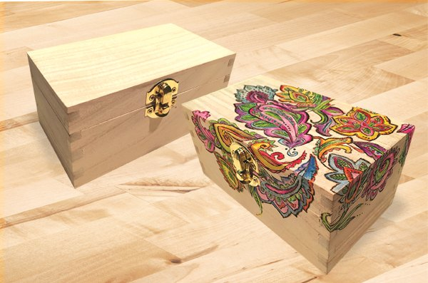 Add some color to a wooden recipe box home decor how to woodworking