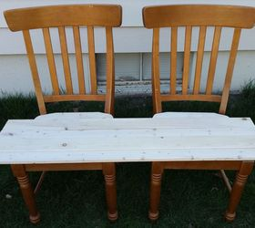 Patio Bench Made From Chairs, Outdoor Furniture, Painted Furniture,  Repurposing Upcycling, Woodworking