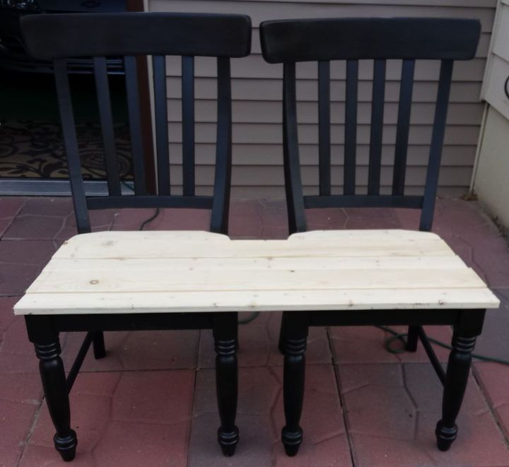 Patio Bench Made From Chairs | Hometalk