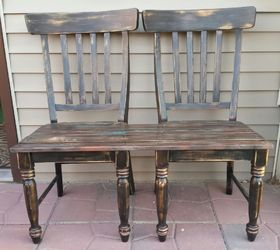 Gentil Patio Bench Made From Chairs, Outdoor Furniture, Painted Furniture,  Repurposing Upcycling, Woodworking