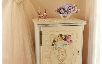 From Sewing Machine Cabinet to Charming Vanity