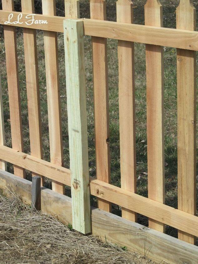 DIY Garden Fence Using Picket Fence Panels