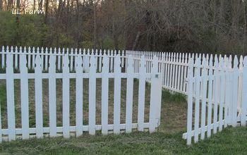 DIY Garden Fence Using Picket Fence Panels