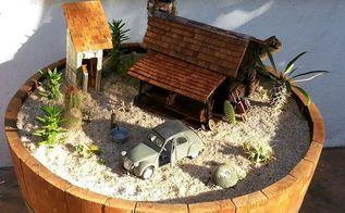 making a desert fairy garden, crafts, gardening, how to