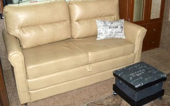 Convert a Crate Into a Foot Stool for the RV