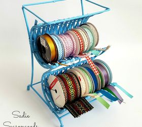 From Wine Rack To Ribbon Cradle Easy Thrifty Craft Room Storage, Craft  Rooms, Crafts