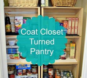 How I Converted A Coat Closet Into A Pantry ...
