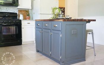 How to Update a Builder-Grade Kitchen Island With Trim and Paint