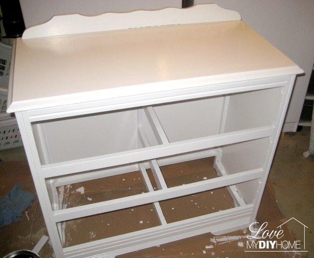 dresser turned tv stand trash to treasure, chalk paint, diy, painted furniture