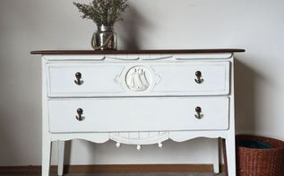 before and after a unique nautical dresser, painted furniture