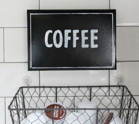 Spruced Up Coffee Station And Hanging K Cup Holder, Kitchen Design,  Organizing, Storage