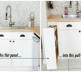 Attractive Hidden Kitchen Storage: Turn A Filler Panel Into A Pull Out Cabinet! |  Hometalk