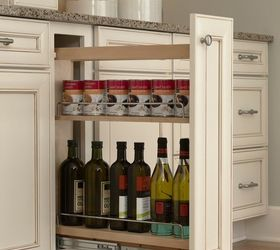 hidden kitchen storage turn a filler panel into a pull out cabinet rh hometalk com kitchen cabinet filler panels kitchen cabinet filler strips